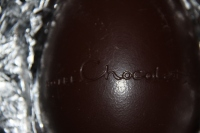 Attention to detail - an inscribed egg half