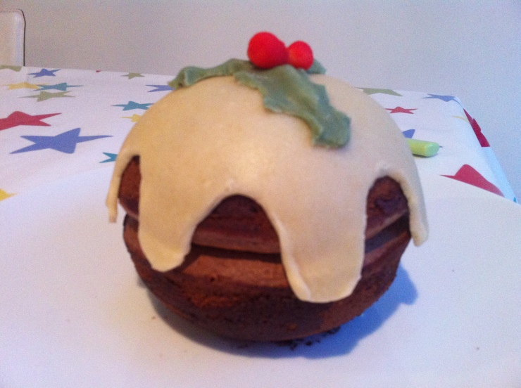 Melting Middle Fondant Disguised As A Christmas Pudding