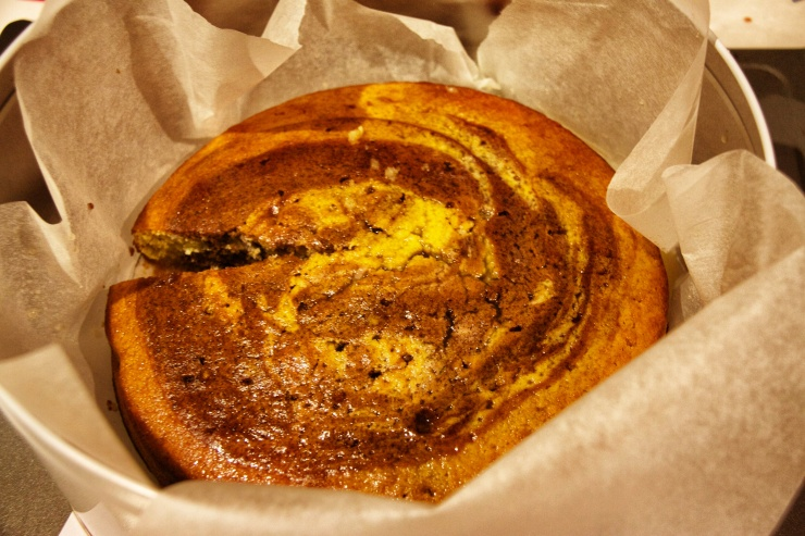 Dan Lepard's Lime Syrup Marble Cake