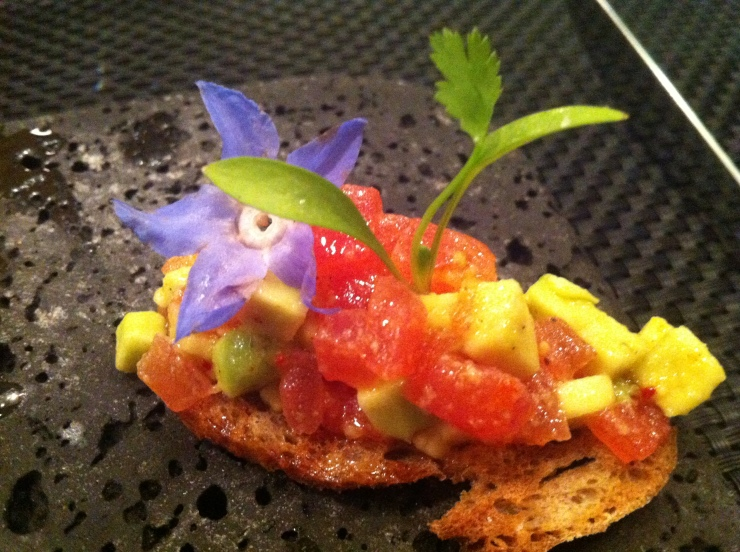 Tomato and Avocado Bruschetta