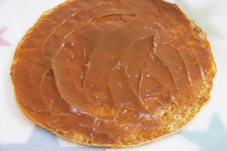 Abra-ca-Debora pancake spread with Dulce de Leche