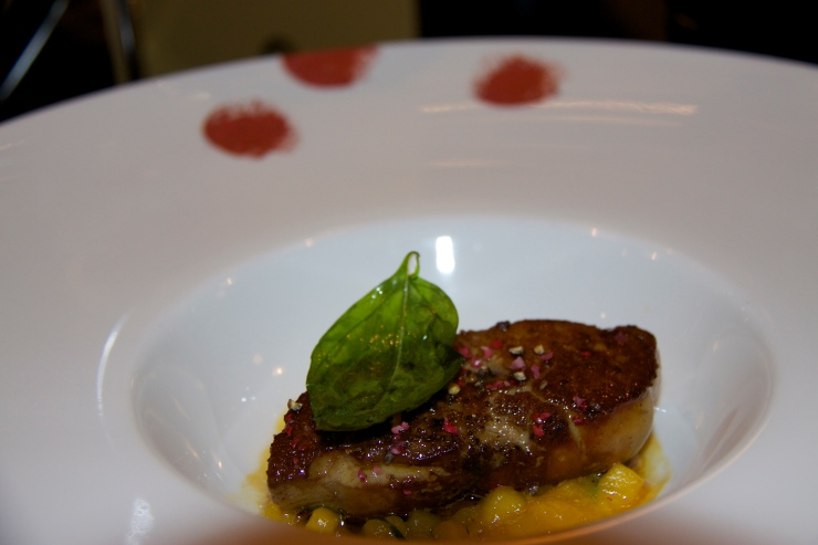 Seared Foie Gras with Mango, Orange & Basil