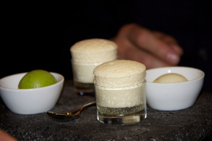 Duo of Plata and Anejo Soufflé with Lime Sorbet