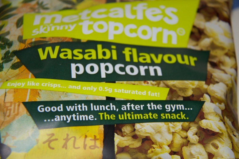 Wasabi flavour Metcalfe's Skinny Topcorn