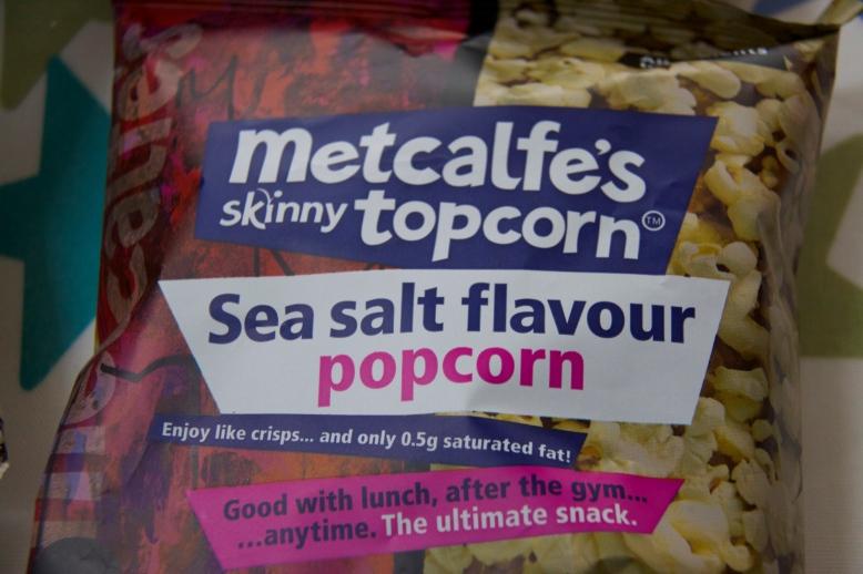 Sea Salt flavour Metcalfe's Skinny Topcorn