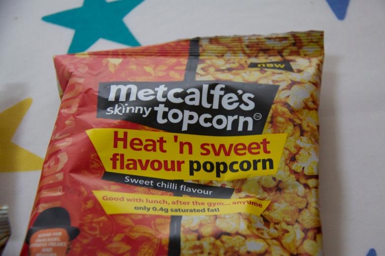 Heat n Sweet flavour Metcalfe's Skinny Topcorn