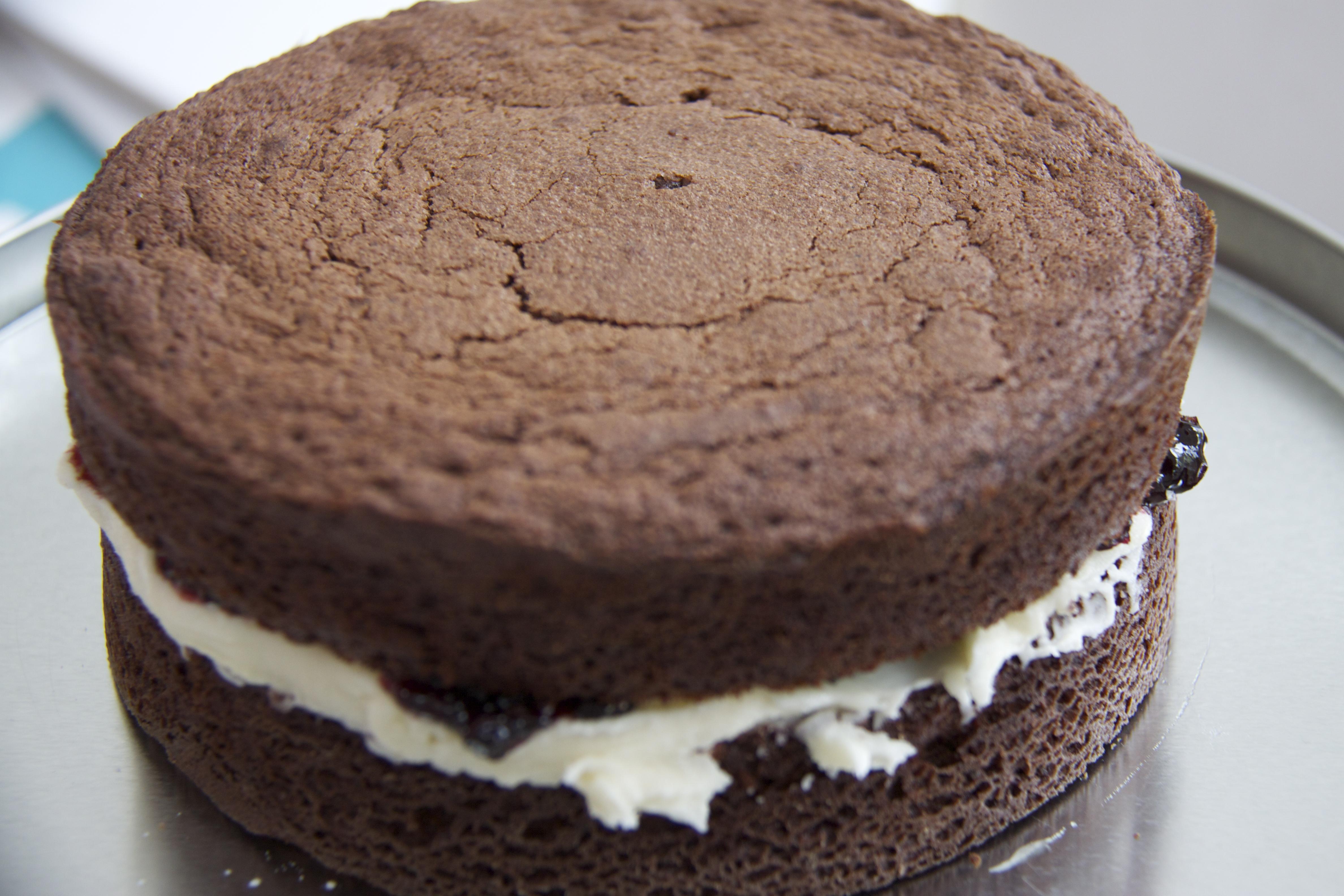 chocolate sponge cake recipe chocolate victoria sponge cake chocolate ...