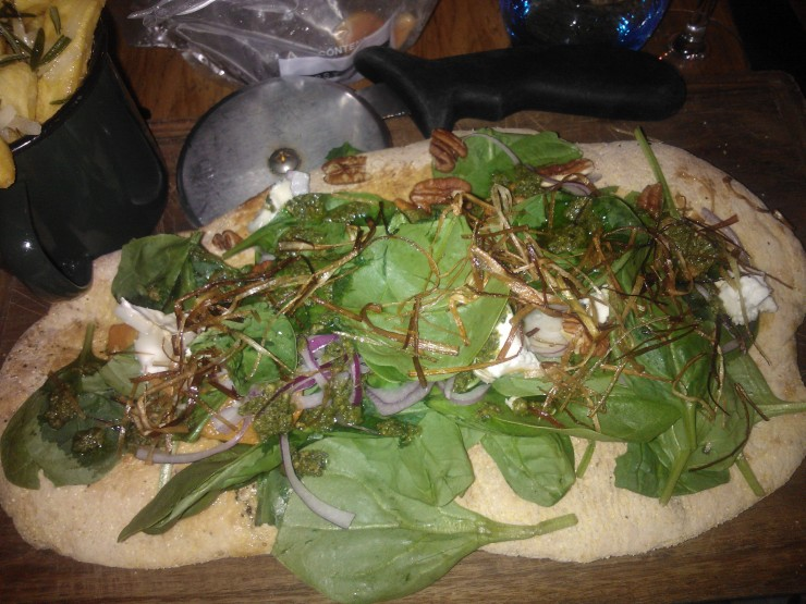 Superfood flatbread