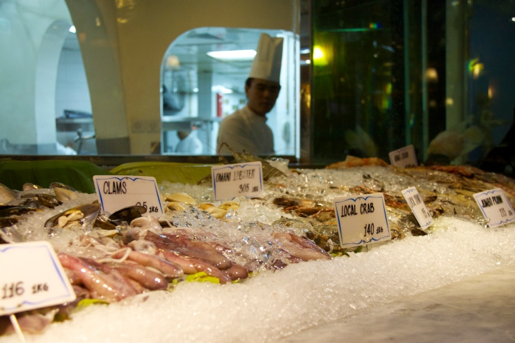 Fishmarket fish display