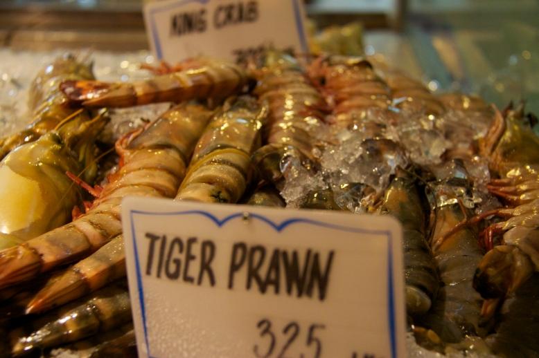 Tiger Prawns, Fishmarket, Abu Dhabi