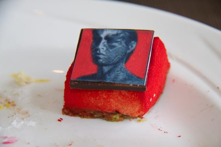 Album cover cheesecake