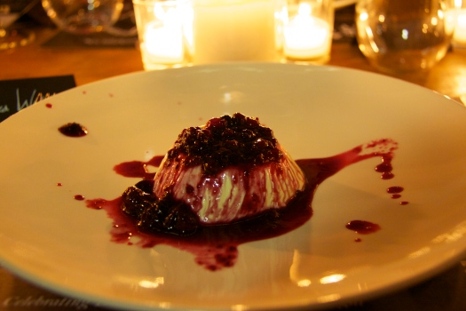 Panna cotta with wild berry compote