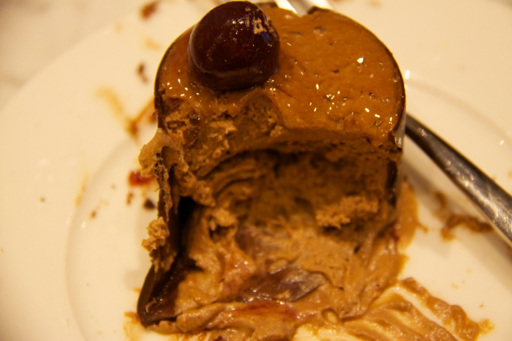 Inside the chocolate mousse