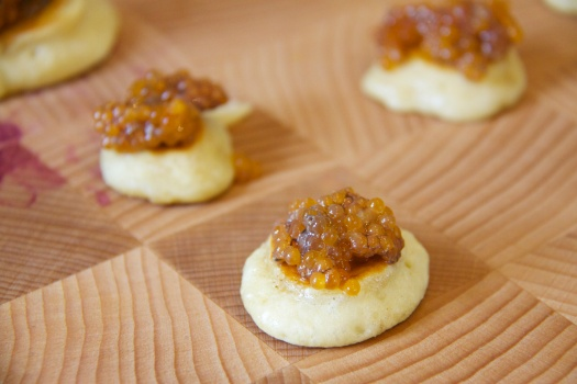 Salmon Roe Canapes