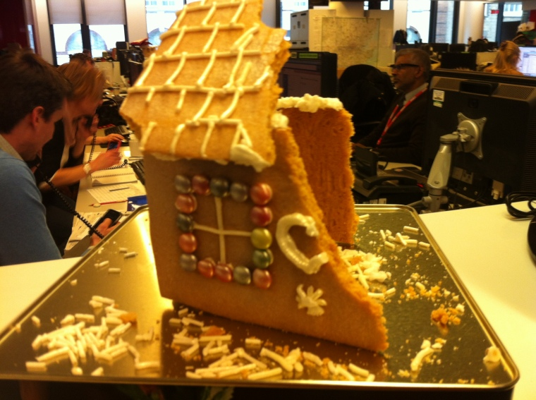 Demolished Gingerbread House