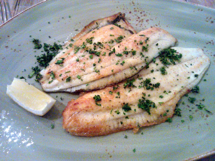 Plaice off the bone