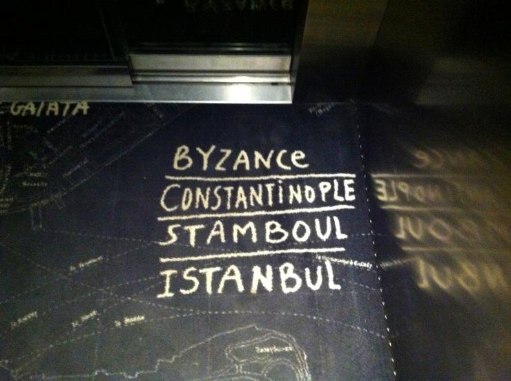 Monogrammed floors Mama Shelter Istanbul