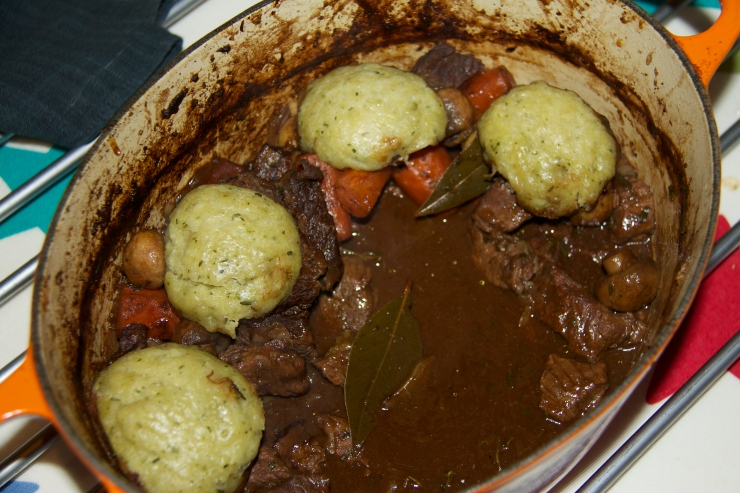 Stout Stew with Thyme Dumplings