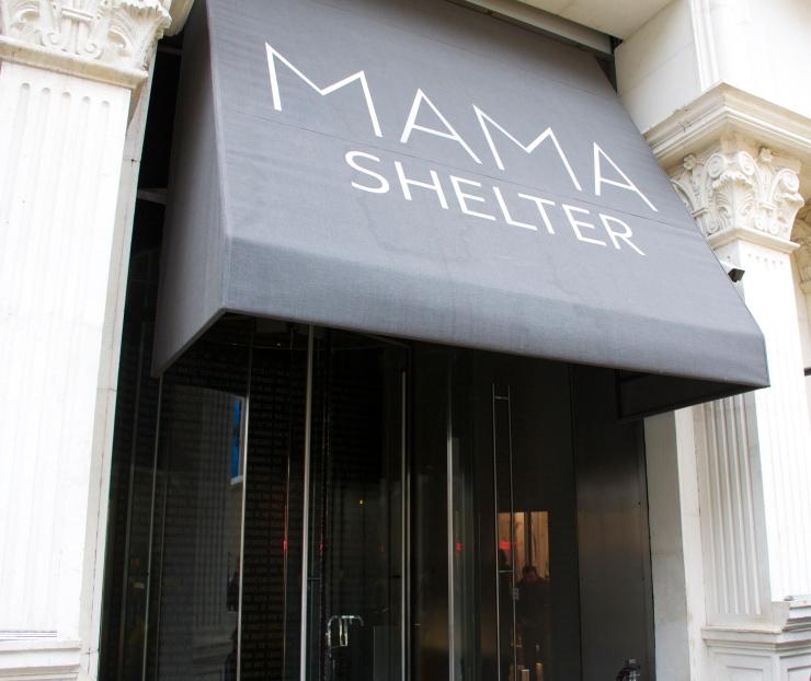 Mama Shelter entrance, Istanbul