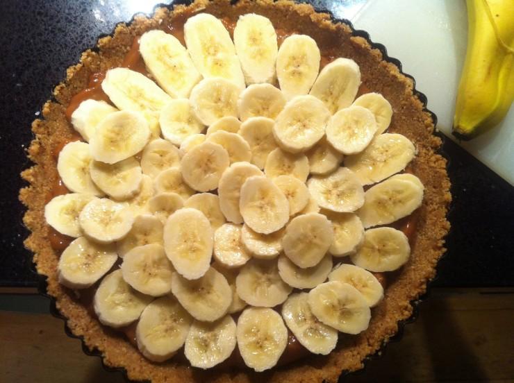 Banana topping