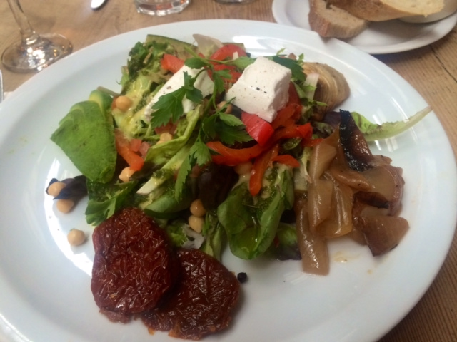 Vegetable salad lunch