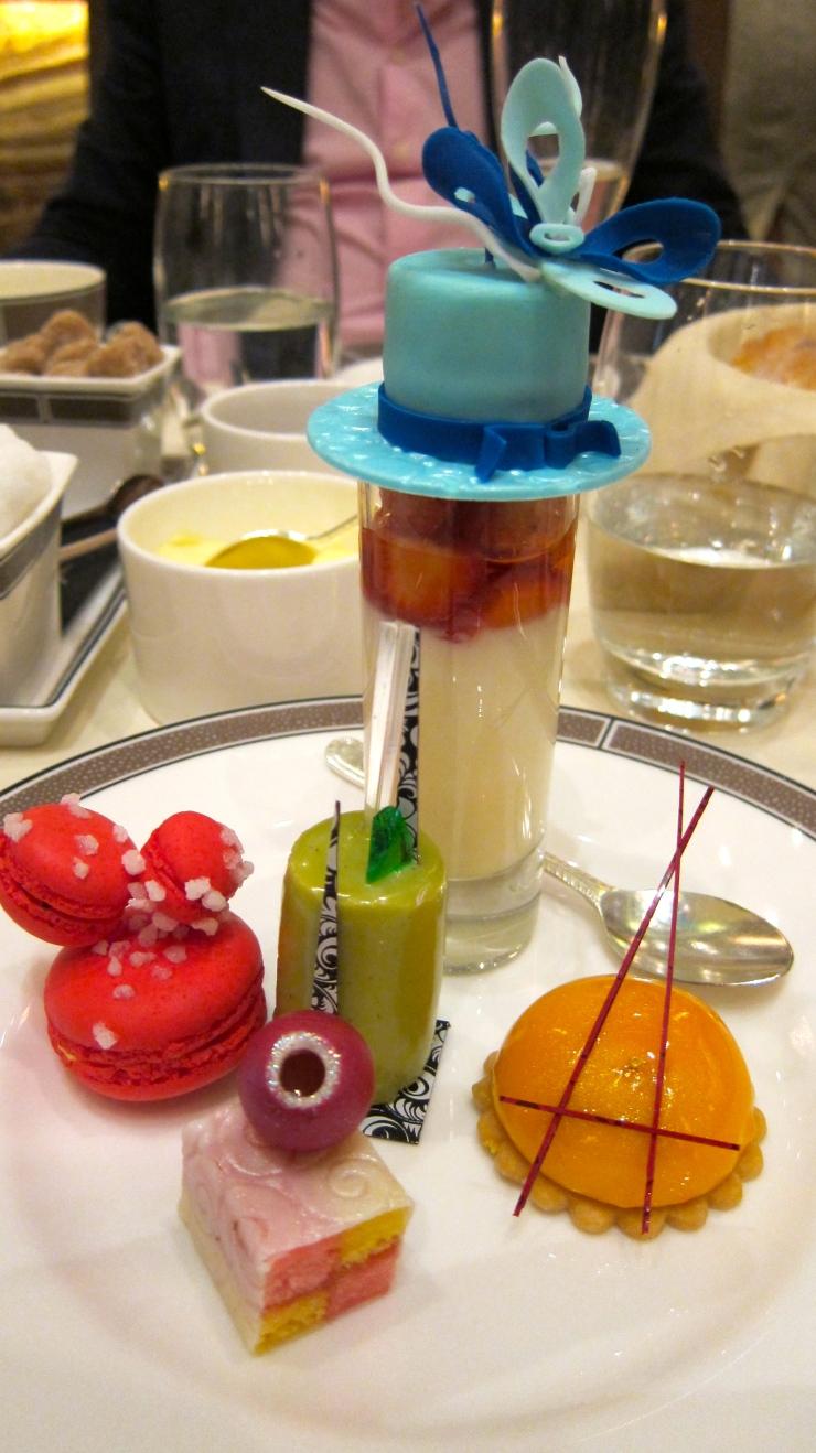 Sweet plate, Langham Hotel