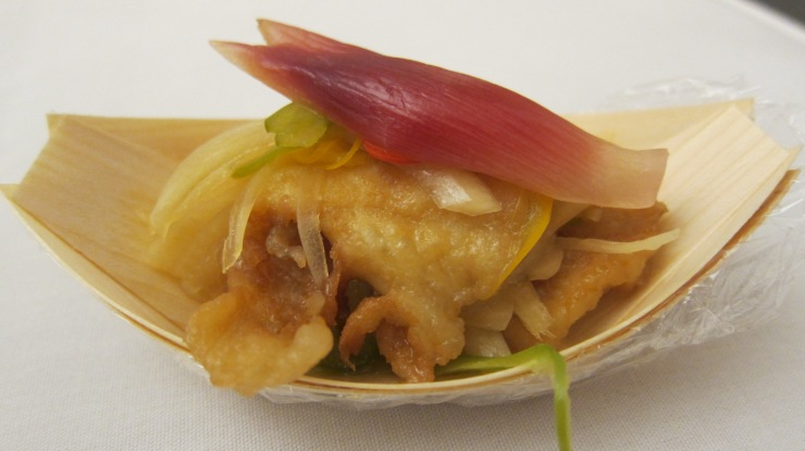 Flatfish with myo-ga ginger