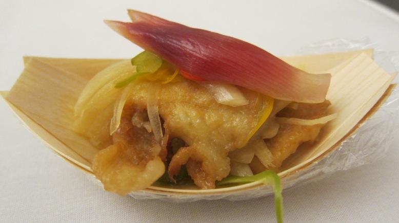 Flatfish with myo-ga ginger