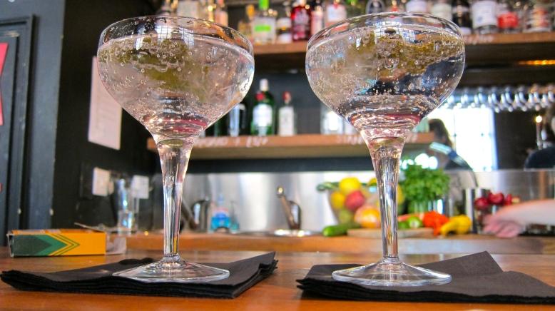Bath Gin martinis