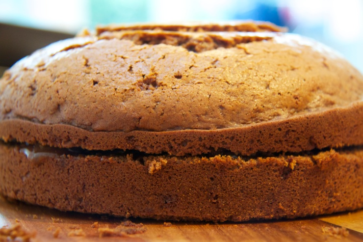Sandwiched Wright's Ginger Cake