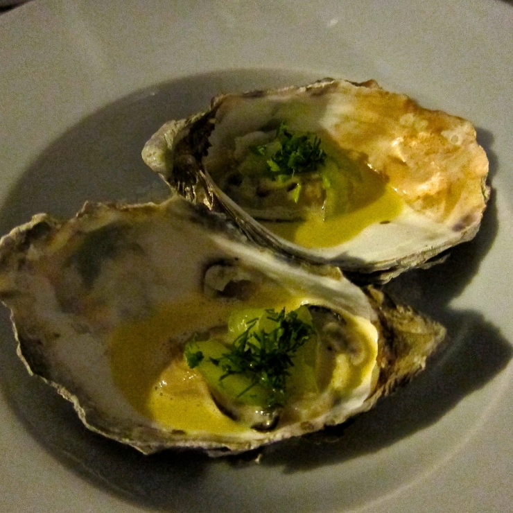 Poached Oysters, Sumas Restaurant, Jersey