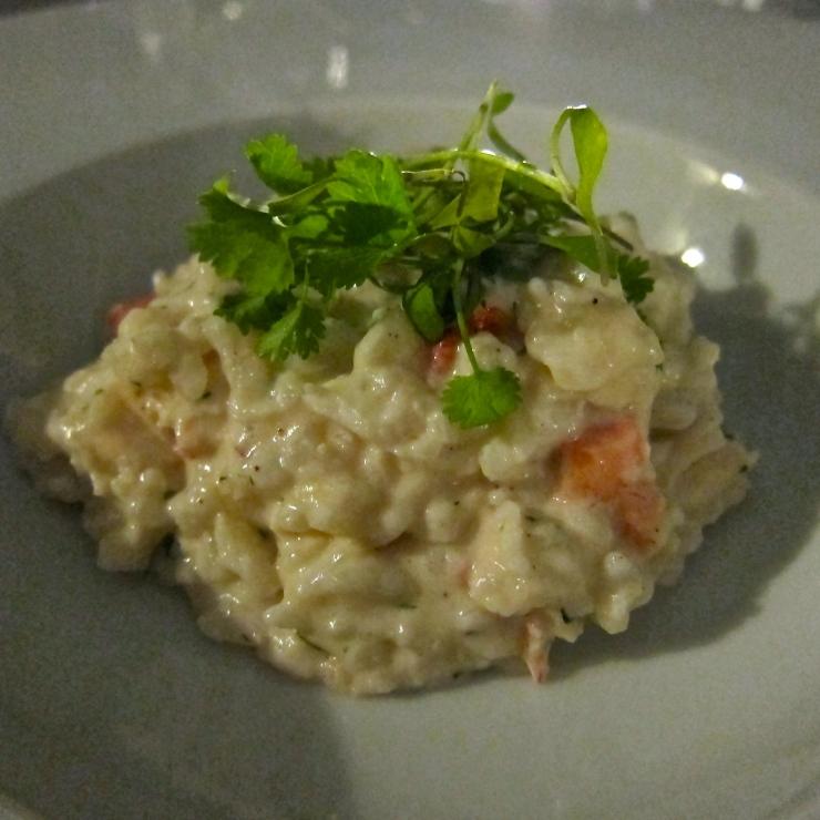 Lobster Risotto, Sumas Restaurant, Jersey