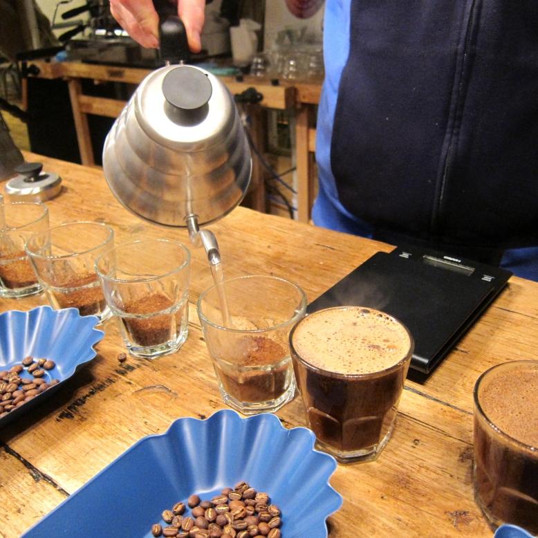 Swan-necked coffee pot