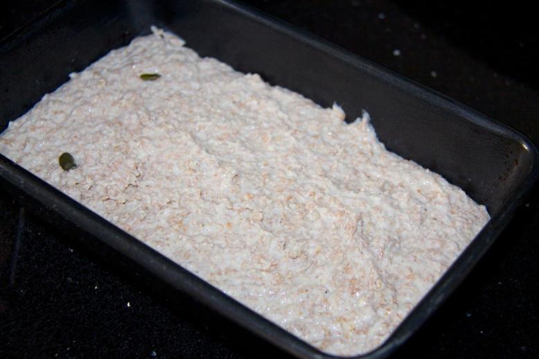 Bread mix in tin