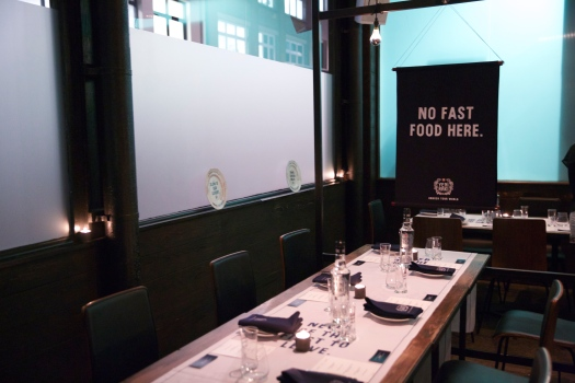 Table laid at Dabbous