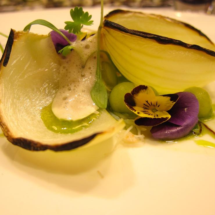 Crab, razor clam,  langoustine in cucumber.