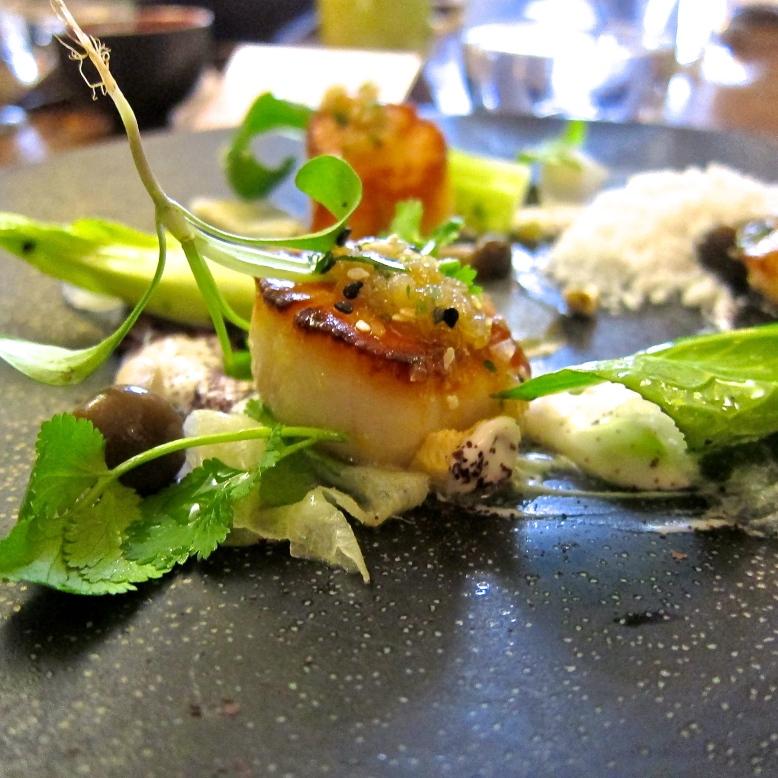 Scottish scallops, Texture Restaurant