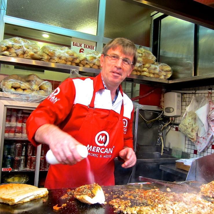 Fried Fish sta,, Kadikoy, Istanbul