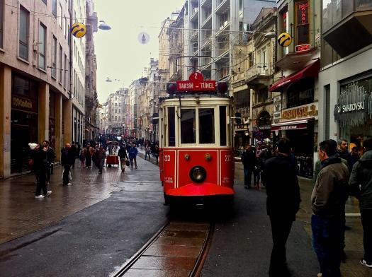 Tram. Istiklal Street