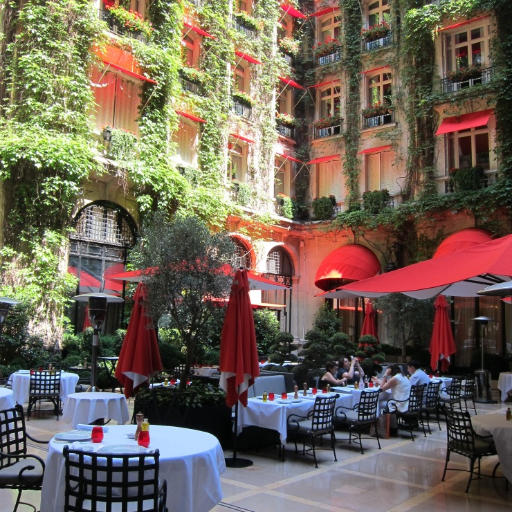 Outside Terrace, Plaza Athenee