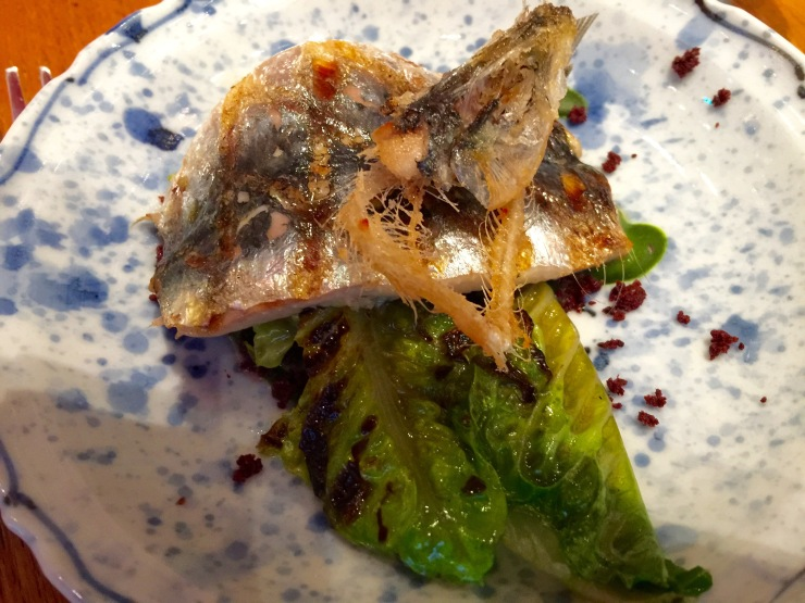 Deep-fried sardine, Alain Ducasse
