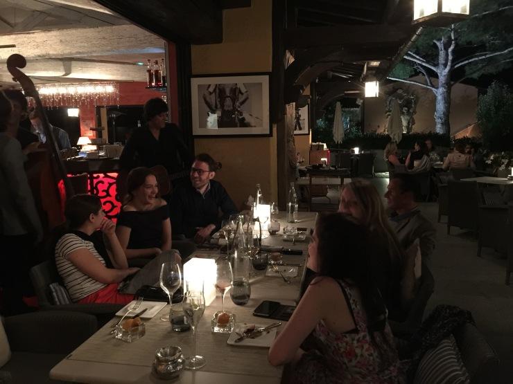 Poolside dining, Hotel Byblos