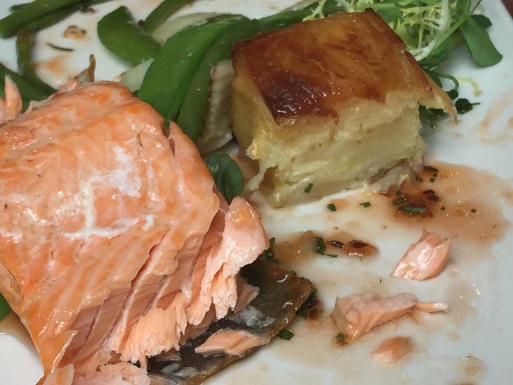 Roast sea trout, Waddesdon Manor