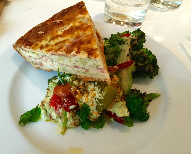 Smoked Bacon Quiche, Ottolenghi