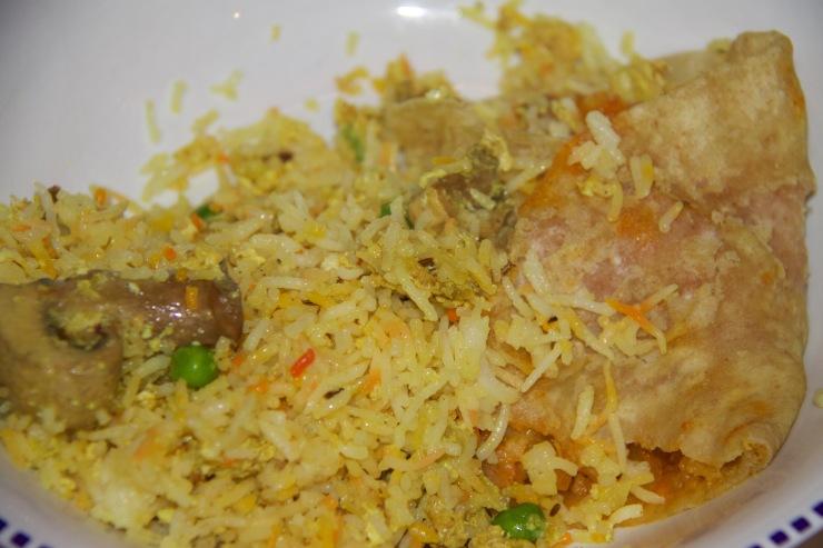 Mushroom Rice, Garlic Naan