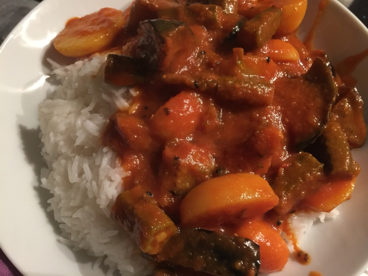 Finished Curry & Rice