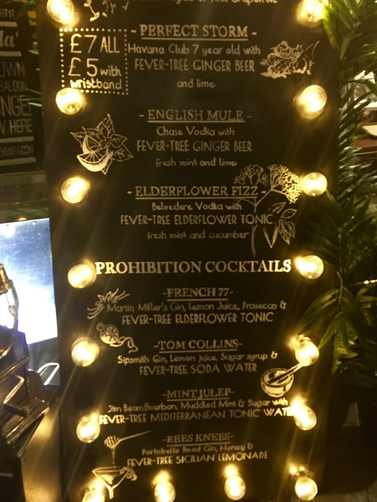 Fever Tree cocktail board