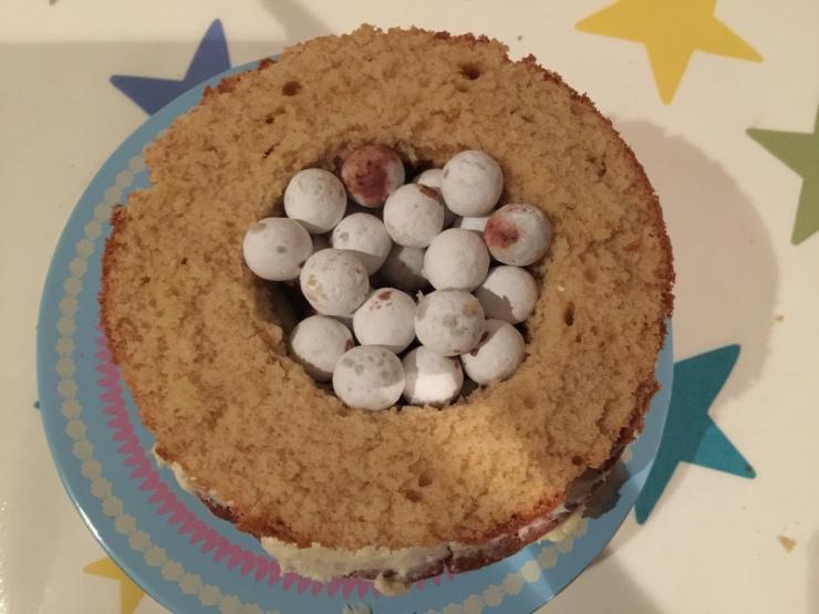 Hidden centre cake
