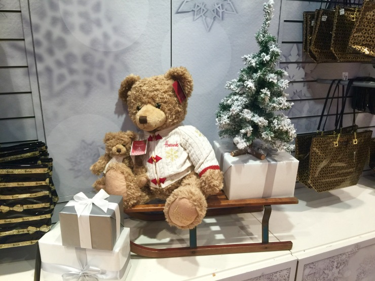 hugh the 2016 christmas bear is the star of this years show and takes up a commanding position at the front of the shop a smaller version is 2495 with