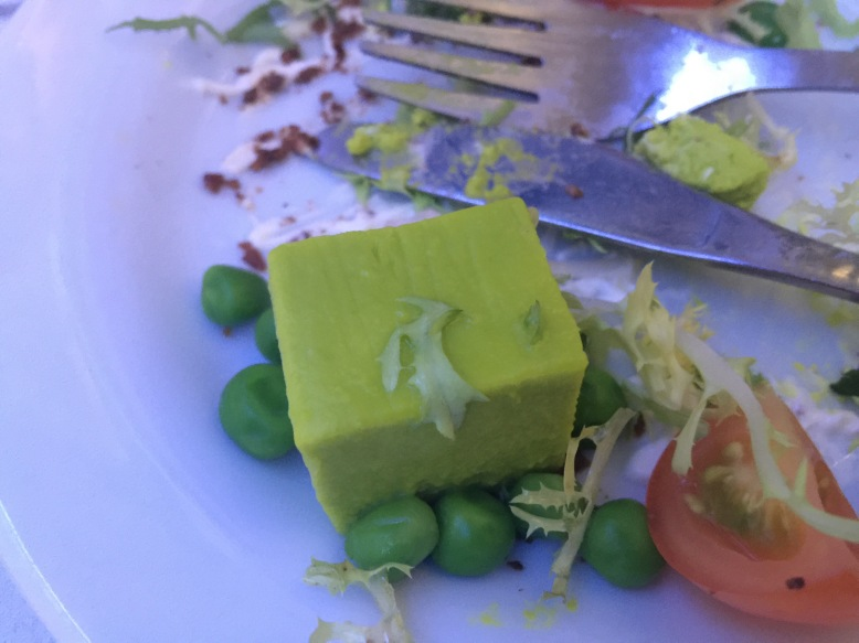 Pea pannacotta, BA Club World